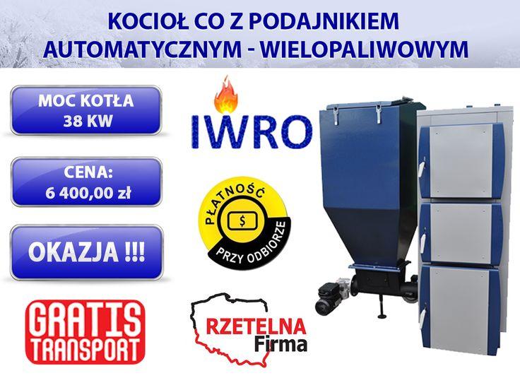 🔵 Kocioł centralnego ogrzewania z podajnikiem automatycznym wielopaliwowym 15 KW  🔵 Wejdź w bezpośredni link do aukcji kotła: ►http://allegro.pl/kociol-kotly-piec-ruszt-wodny-palnik-zeliwny-38kw-i6290892427.html  🔷KONTAKT:  ZADZWOŃ JUŻ TERAZ i dowiedz się więcej:  📞tel kom 796640017  📨e-mail: iwro@onet.pl  ▶Zapraszamy również na nasze aukcje allegro: http://allegro.pl/listing/user/listing.php?us_id=17206055  #KOCIOŁ #KOTŁY #PIECE #DOM #CENTRALNE #OGRZEWANIE #MIAŁ