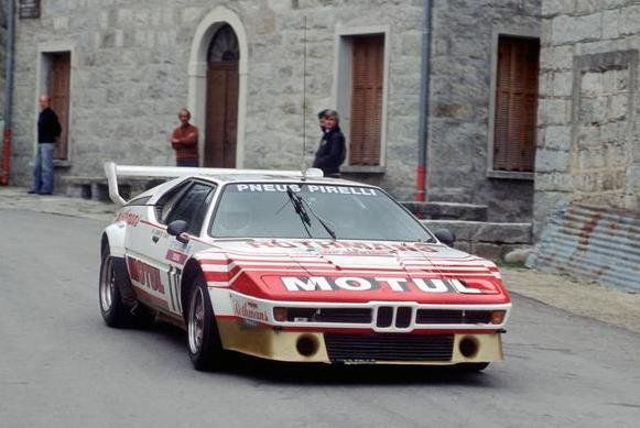 BMW M1 Rally Car. Is it just me or does the image look really obscure?