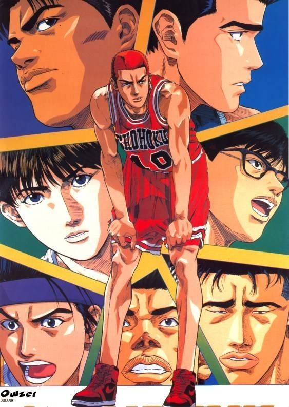 Tags: Anime, Slam Dunk, Hanamichi Sakuragi, Takenori Akagi, Sendou Akira