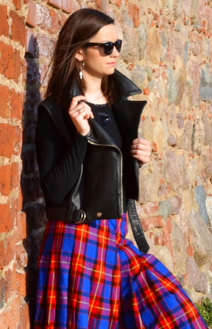 leather vest outfit fall black, rocker chic style grunge punk US$169.95