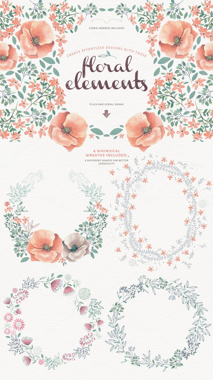 Magical Watercolor graphics Volume 2 by Lisa Glanz on Creative Market