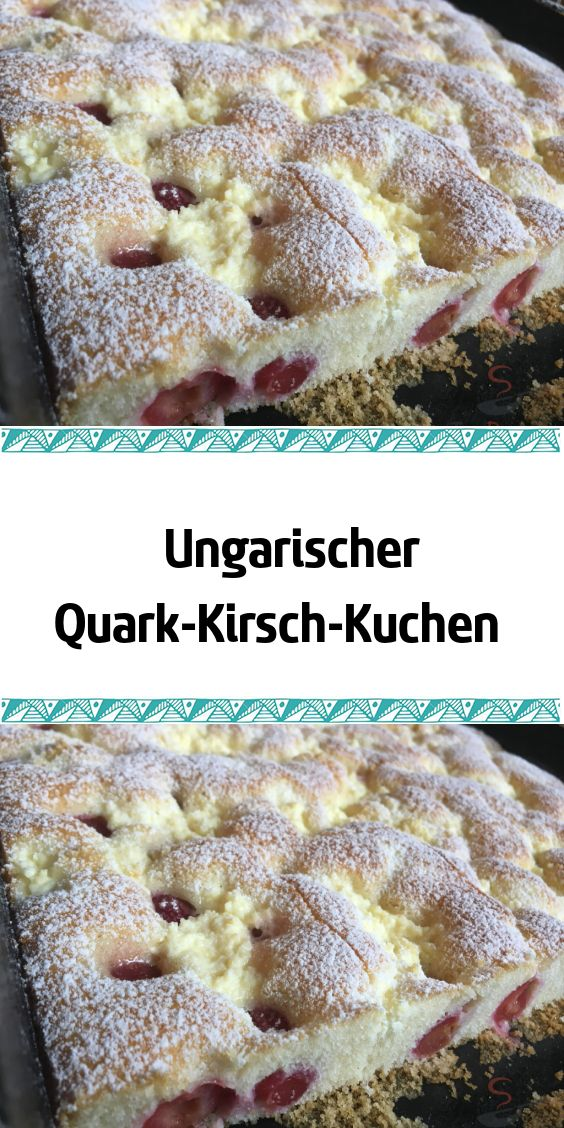 Ungarischer Quark-Kirsch-Kuchen