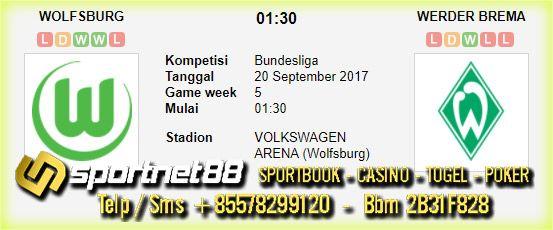 Prediksi Skor Bola Wolfsburg vs Werder Bremen 20 Sep 2017 Liga Jerman di VOLKSWAGEN ARENA (Wolfsburg) pada hari Rabu jam 01:30 live di Fox Sports 2