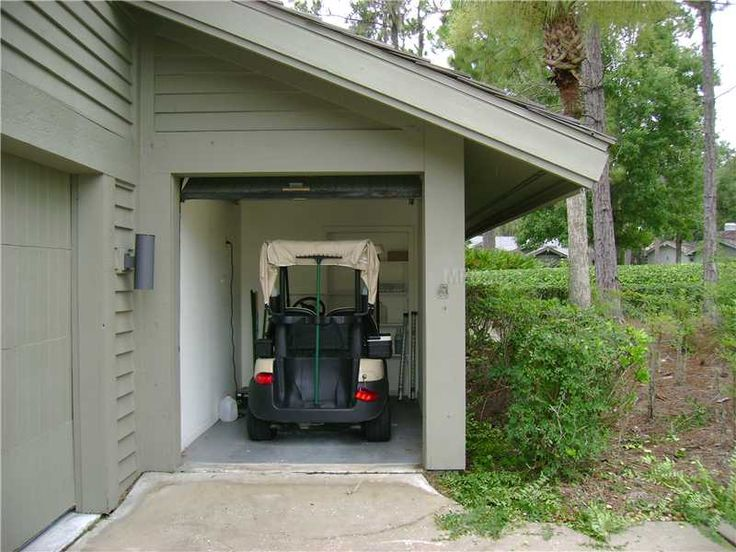 Golf Cart Garage With Shed Roof Gardening Pinterest
