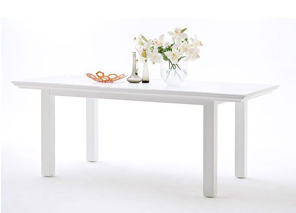 White Dining Table - £510.00 - Hicks and Hicks