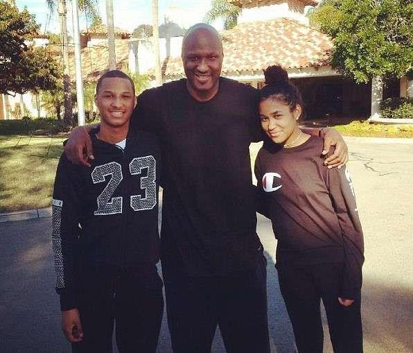 Lamar Odom's children Destiny and Lamar Jr picture