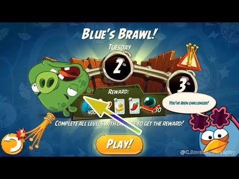Angry Birds 2 Gameplay Walkthrough - BLUE'S BRAWL! (TUESDAY