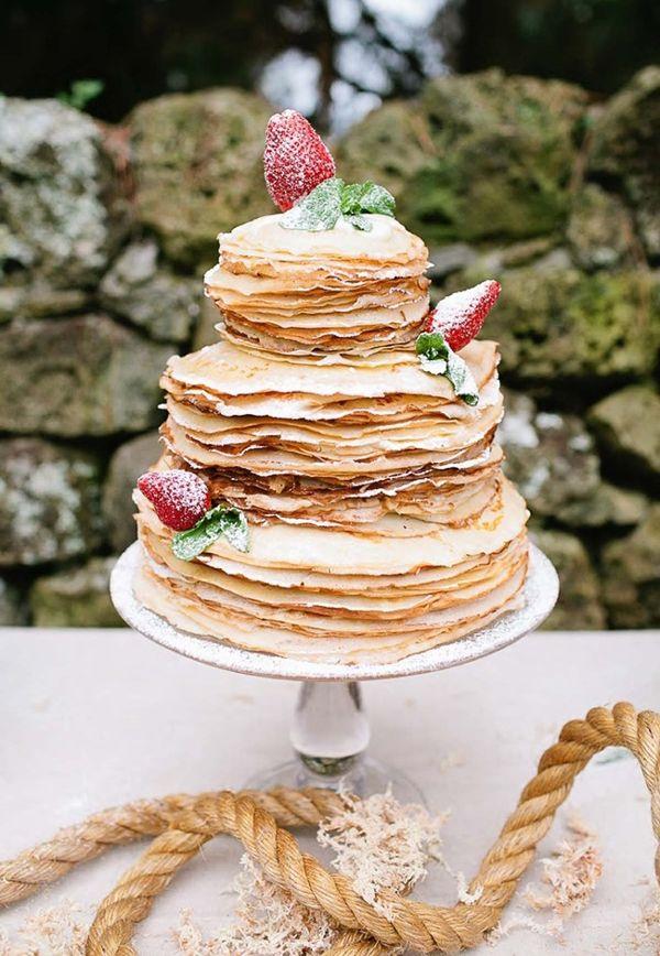 Crepe Wedding Cake  we ❤ this!  moncheribridals.com  #weddingcakealternatives #nontraditionalweddingcake
