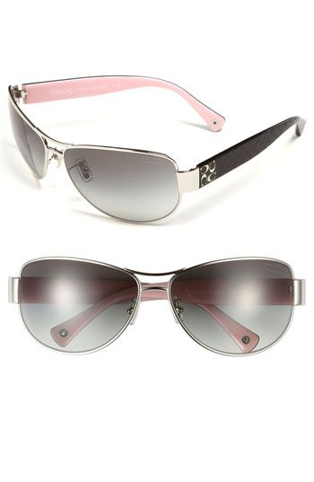 coach coin purse outlet nd3c  COACH Metal Aviator Sunglasses available at Nordstrom