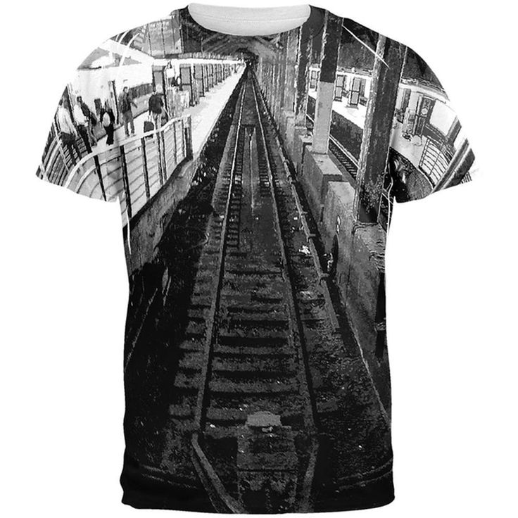 Grand Central Track All Over Adult T-Shirt