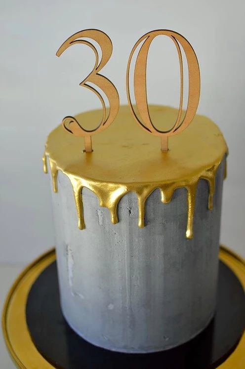 buttercream gold drip cake 30th birthday in sydney