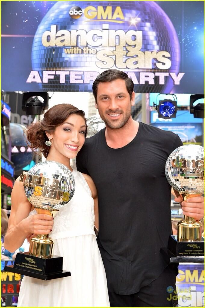 from Tyrone now that dancing with the stars is over are meryl and maks dating