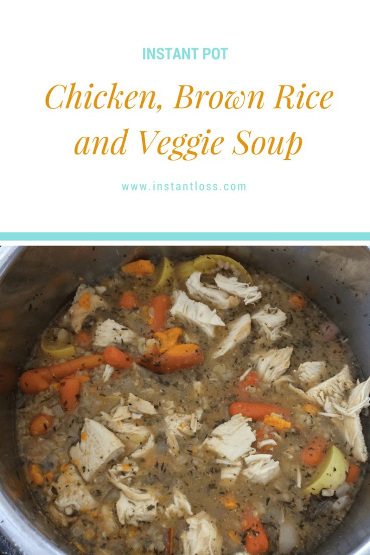 Comfort food at it's finest; you're sure to love this Chicken, Brown Rice, and Veggie Soup! Makes 6-8 Servings BROWN RICE INGREDIENTS 1/2 cup Organic Brown Rice 3/4 cup Homemade Vegetable Broth 1 tsp Better Than Bouillon  1 tbsp Organic Extra Virgin Coconut Oil INSTRUCTIONS 1. Put all of the ingredients for the rice in your …