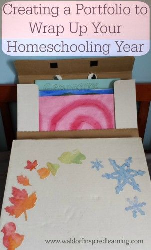 Creating a Portfolio to Wrap Up Your Homeschooling Year ⋆ Waldorf-Inspired Learning