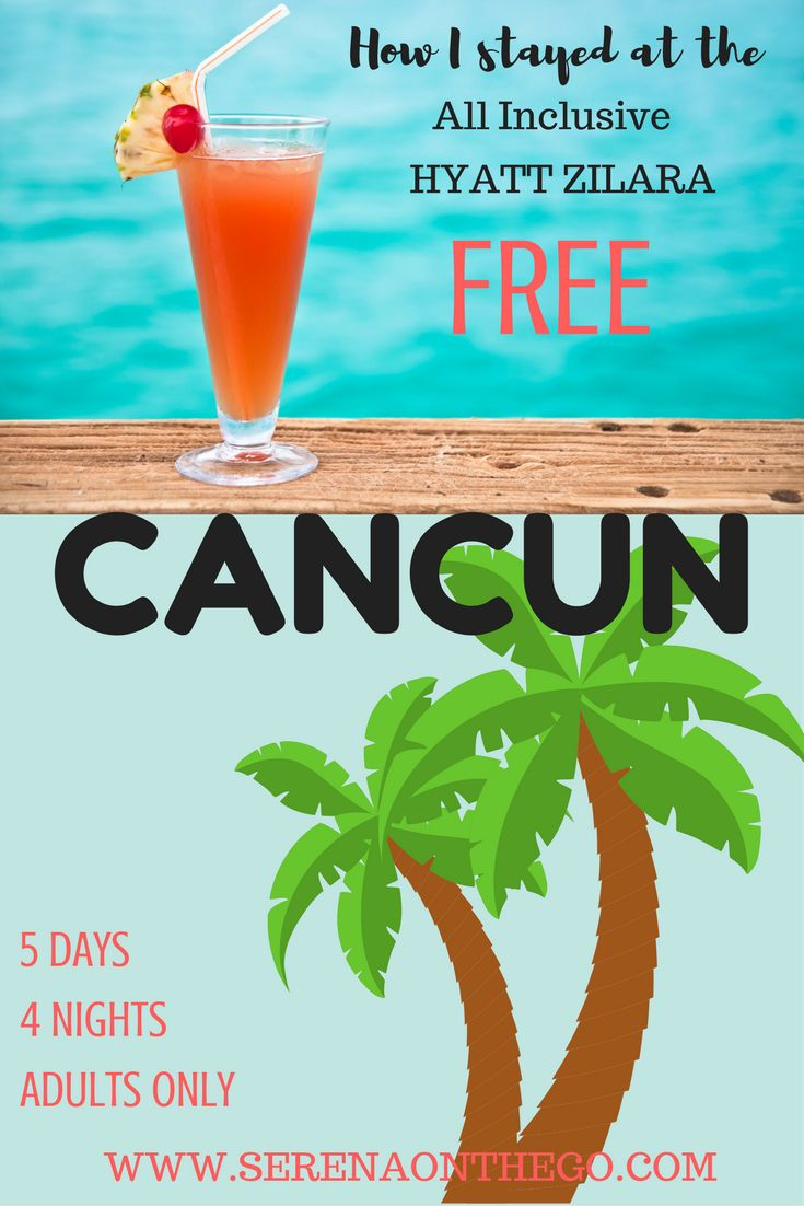 4 Night Stay at the All Inclusive Kid Free Hyatt Zilara in Cancun Mexico for FREE