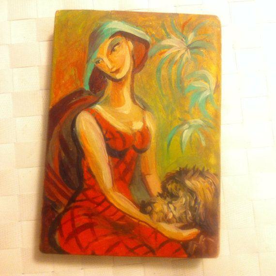 miniature  modern art  oil paintings  wooman  portrait  by ArTvale