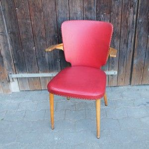 fauteuil bois et vinyl