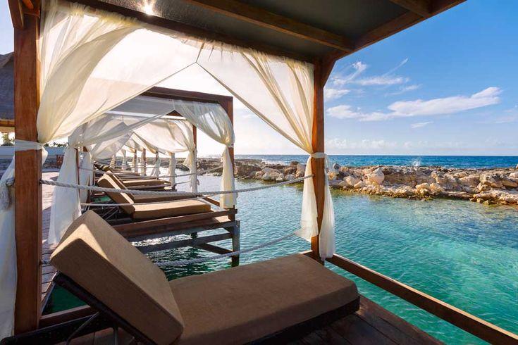 Heaven Bali beds over water. Hard Rock Hotel Riviera Maya