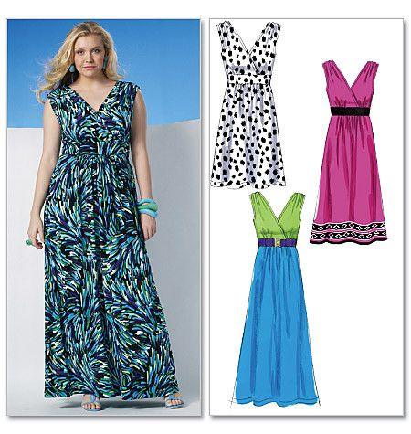 M6073 Misses'/Women's Dress In 3 Lengths