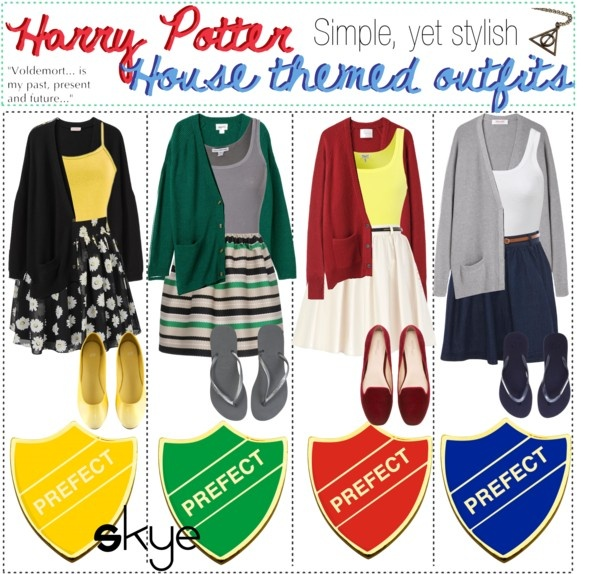 """""""Harry Potter House Themed Outfits; Simple, yet stylish!"""" by thetipcastle on Polyvore"""