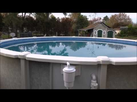 How to install a replacement above ground pool liner in 5 minutes youtube pools pinterest for Above ground swimming pool maintenance guide