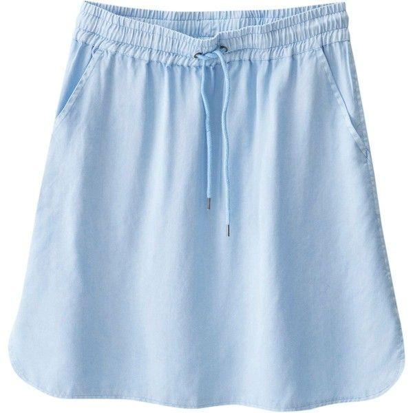 Kavu Sunriver Skirt ($32) ❤ liked on Polyvore featuring skirts, kavu skirt, kavu, draped skirt, going out skirts and dog skirt