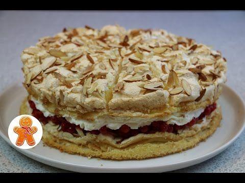 """Торт """"Небесный"""" легкий, воздушный и очень вкусный ✧ Himmelstorte ✧ Heaven Cake (English Subtitles) - YouTube"""