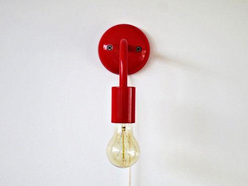 Lampa červená