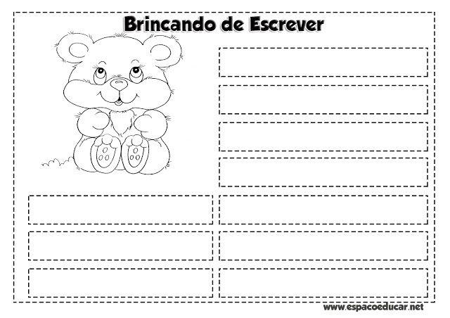 Atividades para Alfabetização: fichas de escrita para imprimir com sugestões! - ESPAÇO EDUCAR