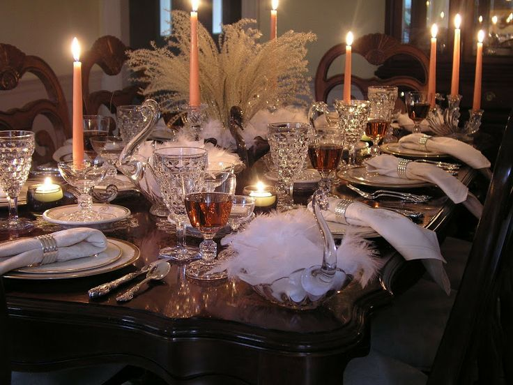 Lovely Tablescape Using Both Fostoria American And