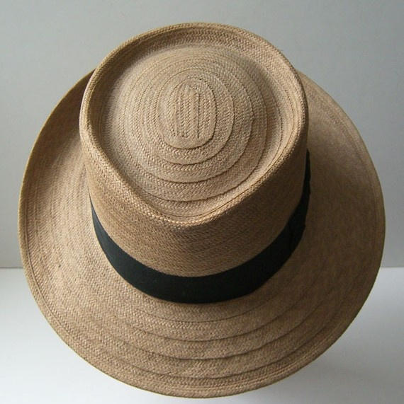 Vintage Large Summer ADAMS CREATION Mens Straw Hat by marvita13, $165.00
