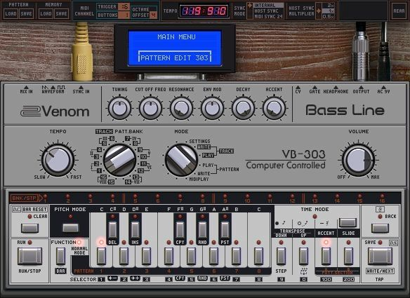 Venom VB-303 is a free software synth that simulates the
