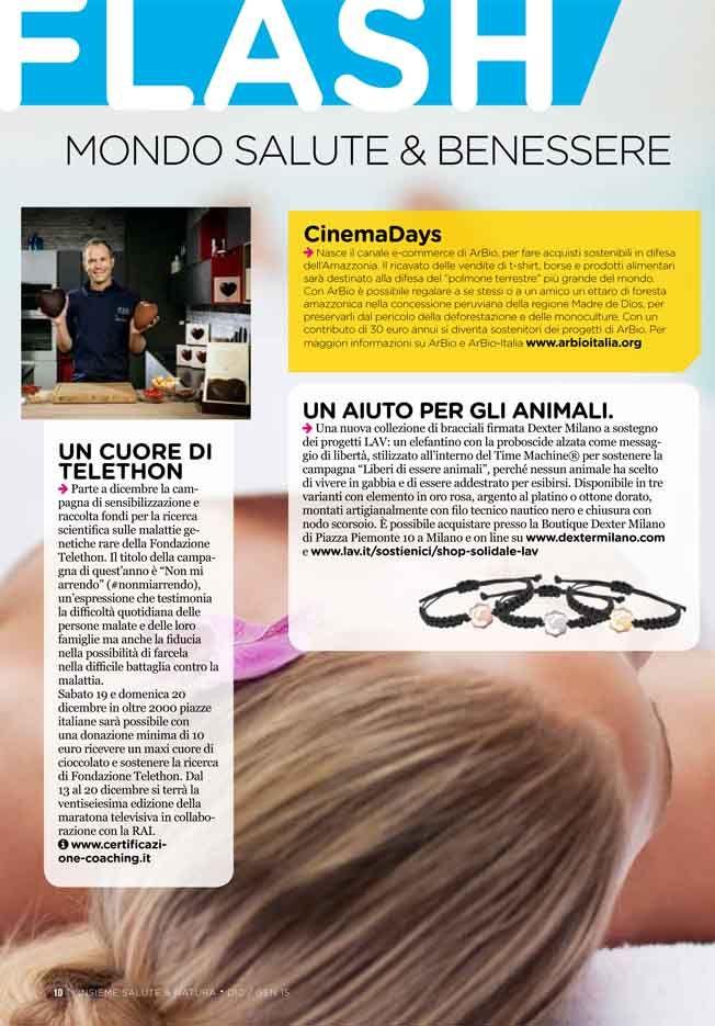 FLASH AGENDA SALUTE DICEMBRE 2015 - Bracciale progetto LAV - LAV Project Bracelet @Dexter S. Milano #timemachine #lav #solidarity #responseble #bracelet #bracciale #knot #nodo #gear #ingranaggio www.dextermilano.com