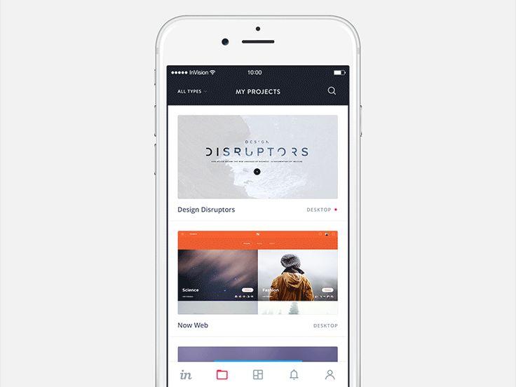 InVision iOS App - UI Movement