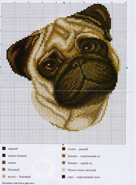 Dog Cross Stitch Chart