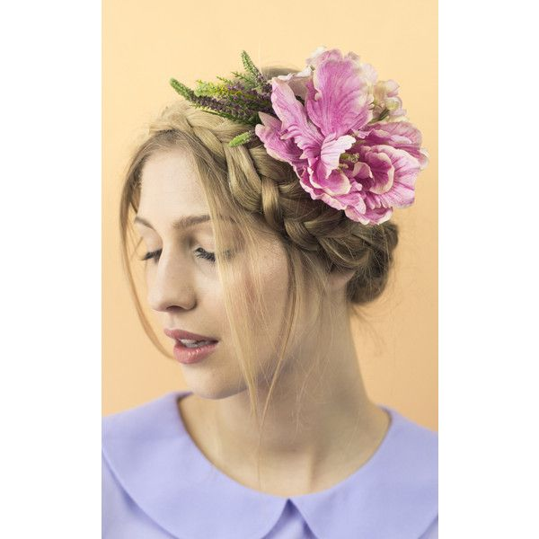Crown and Glory Oversize Summer Posy Corsage ($29) ❤ liked on Polyvore featuring jewelry, brooches, pink, pink flower crown, pin jewelry, pink flower brooch, flower pin brooch and flower jewelry