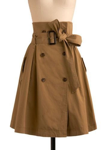 Trench skirt, so cute.