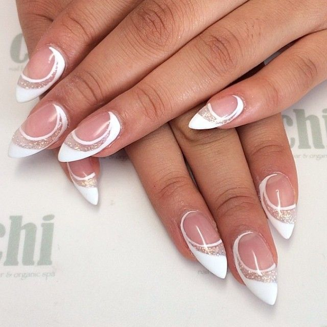 Snowflake french nails