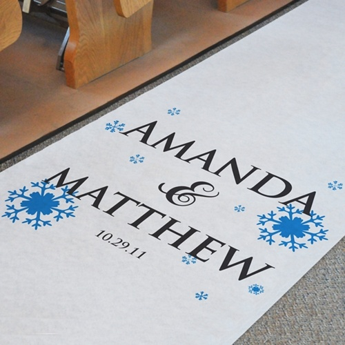 Personalized Aisle Runner Maybe Make A Logo For The Wedding To Put On Everything