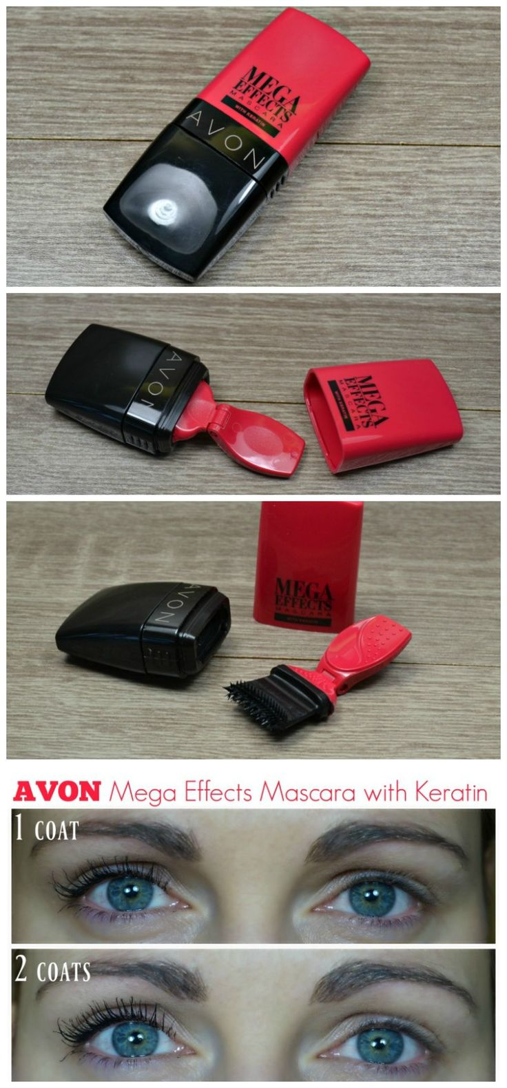 Avon Mega Effects Mascara with Keratin review adn swatches.  via @beautybymissl