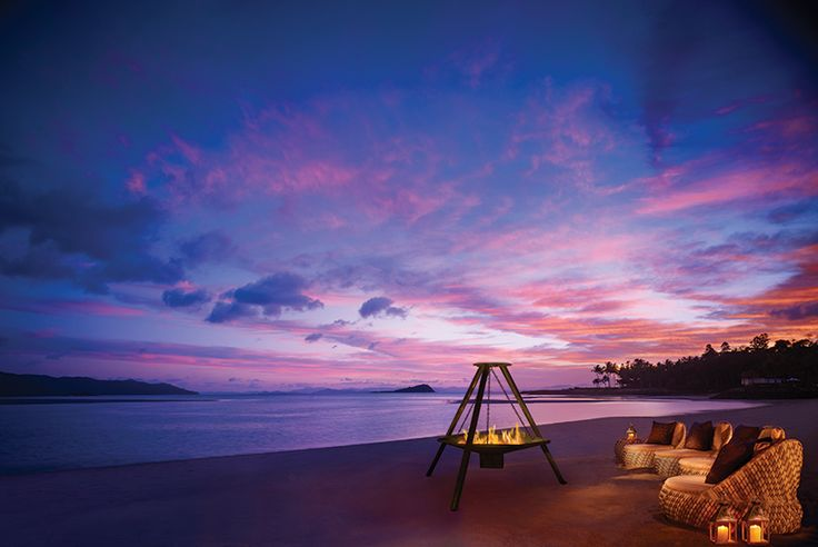 Beach fire and dinner at One&Only Resort
