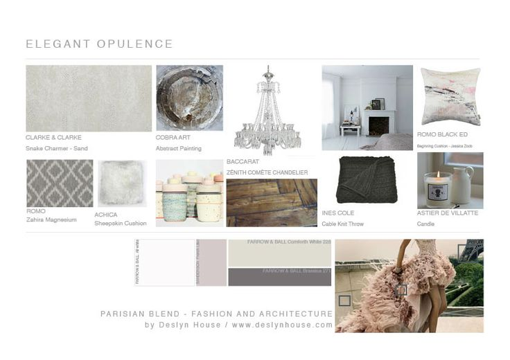 Elegant mood board