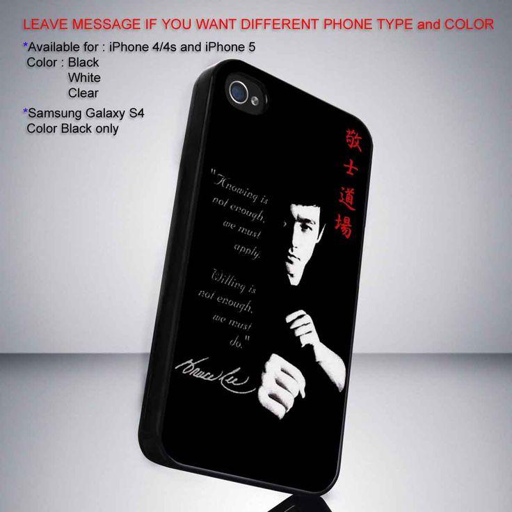 Bruce lee quotes iPhone 5 BLACK case