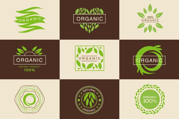 Eco Organic Labels and Tags Set by TopVectors on @creativemarket