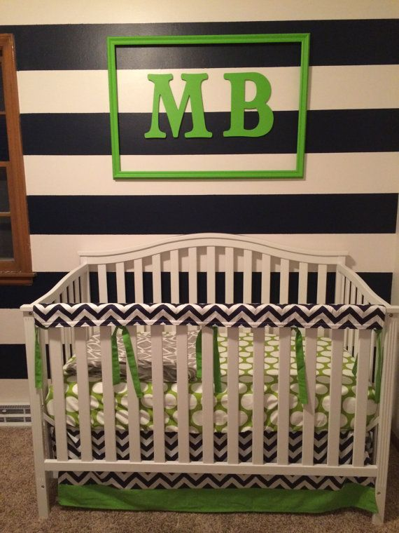 Custom Bumperless Crib Bedding Nursery Bedding by StudioSlumber, $143.00