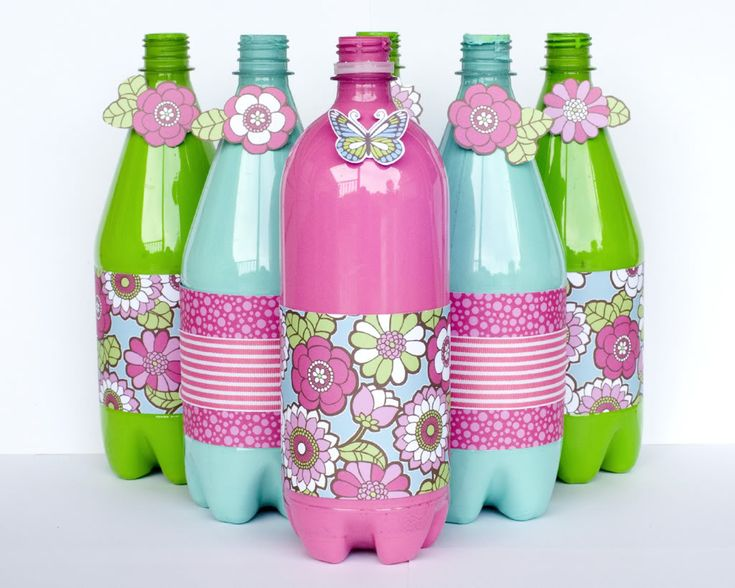 Reciclaje With Water Bottle Decoration Ideas