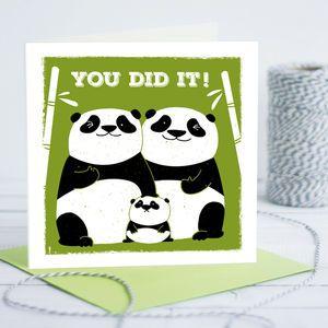 New Baby Congratulations Panda Card