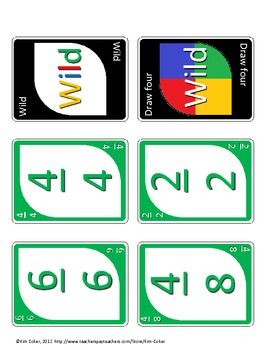 Fraction UNO - A Game of Equivalent Fractions Full Color