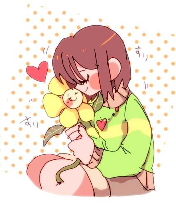 awww! chara does still have a soul somewhere inside of her!