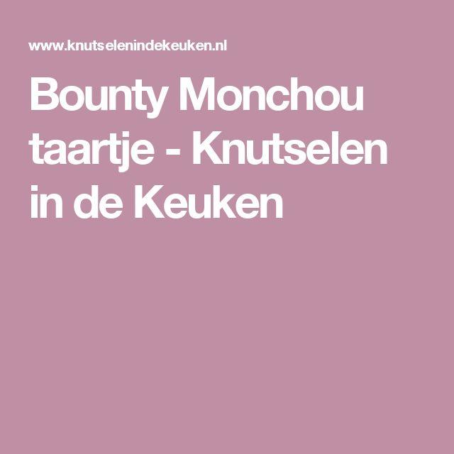 Bounty Monchou taartje - Knutselen in de Keuken